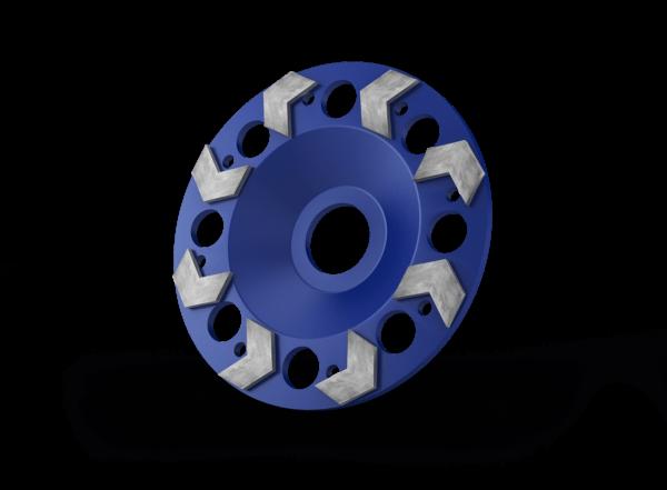 cup wheel blue 125 mm